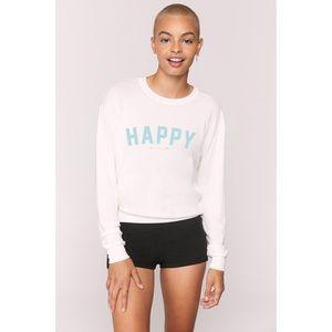 Spiritual Gangster Happy Savasana Pullover Size M